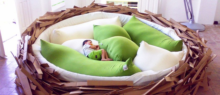 Riesen-Nest-Bett erfüllt alle Träume